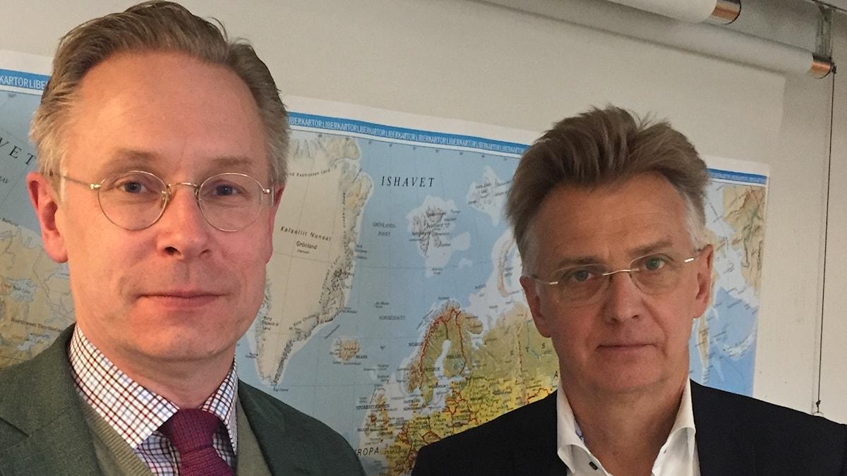 Anders Danielsson tillsammans med intervjuare Daniel Alling