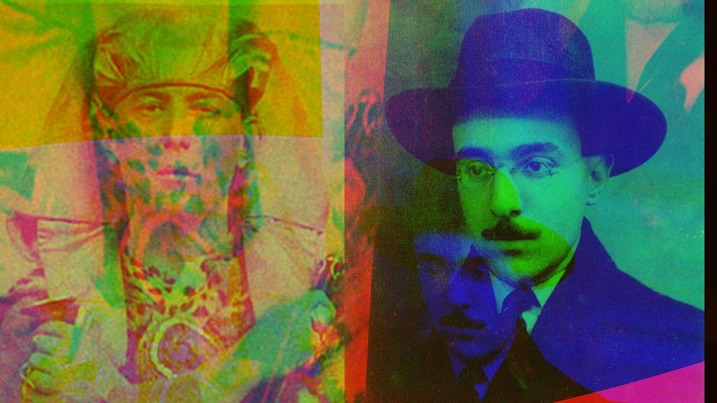 Aleister Crowley (1875–1947) och Fernando Pessoa (1888–1935).