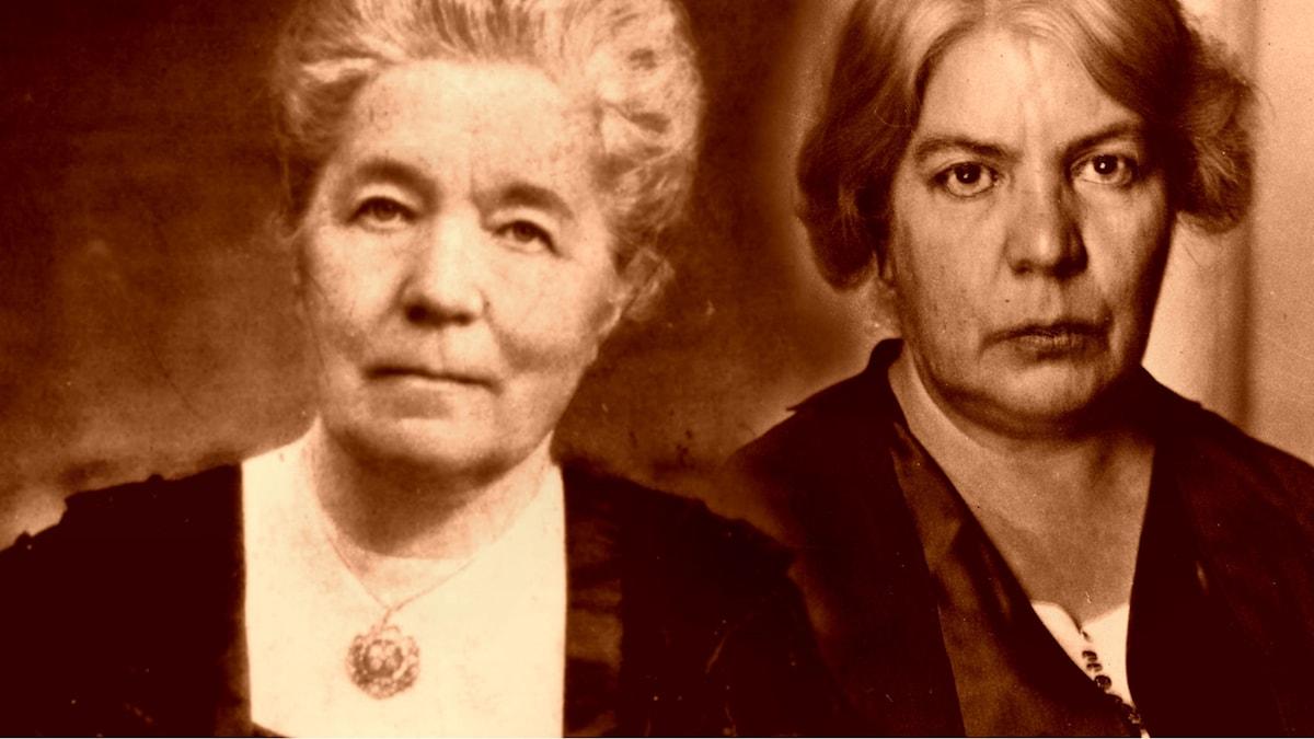 Selma Lagerlöf och Grazia Deledda.