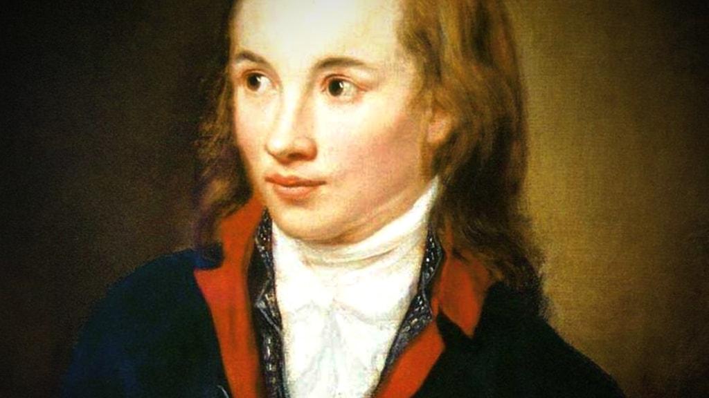 Georg Philipp Friedrich Freiherr von Hardenberg (1772 – 1801), alias Novalis. Porträtt av  Franz Gareis.