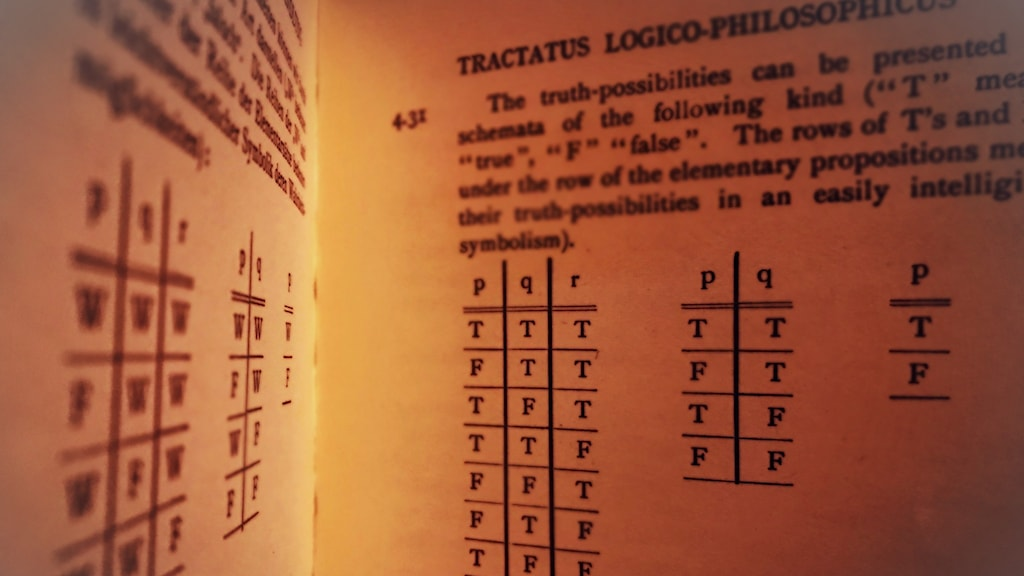 En bild ur den den tvåspråkiga utgåvan av Tractatus.