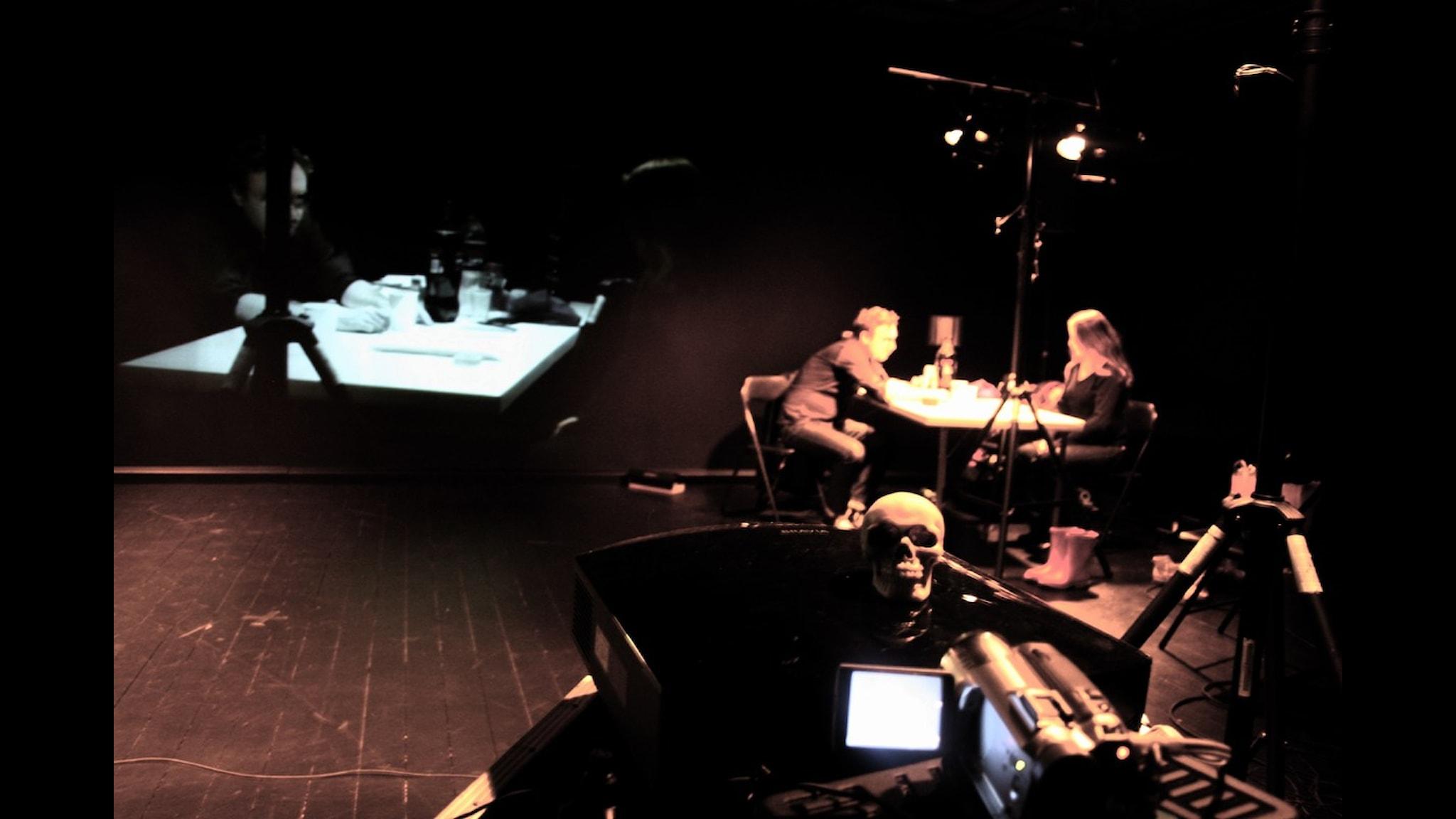 Teatr Weimars Hamlet 11: Exist Ghost: blev en internationell framgång. Men handlar det om teater eller samtida scenkonst? Foto: Jörgen Dahlqvist