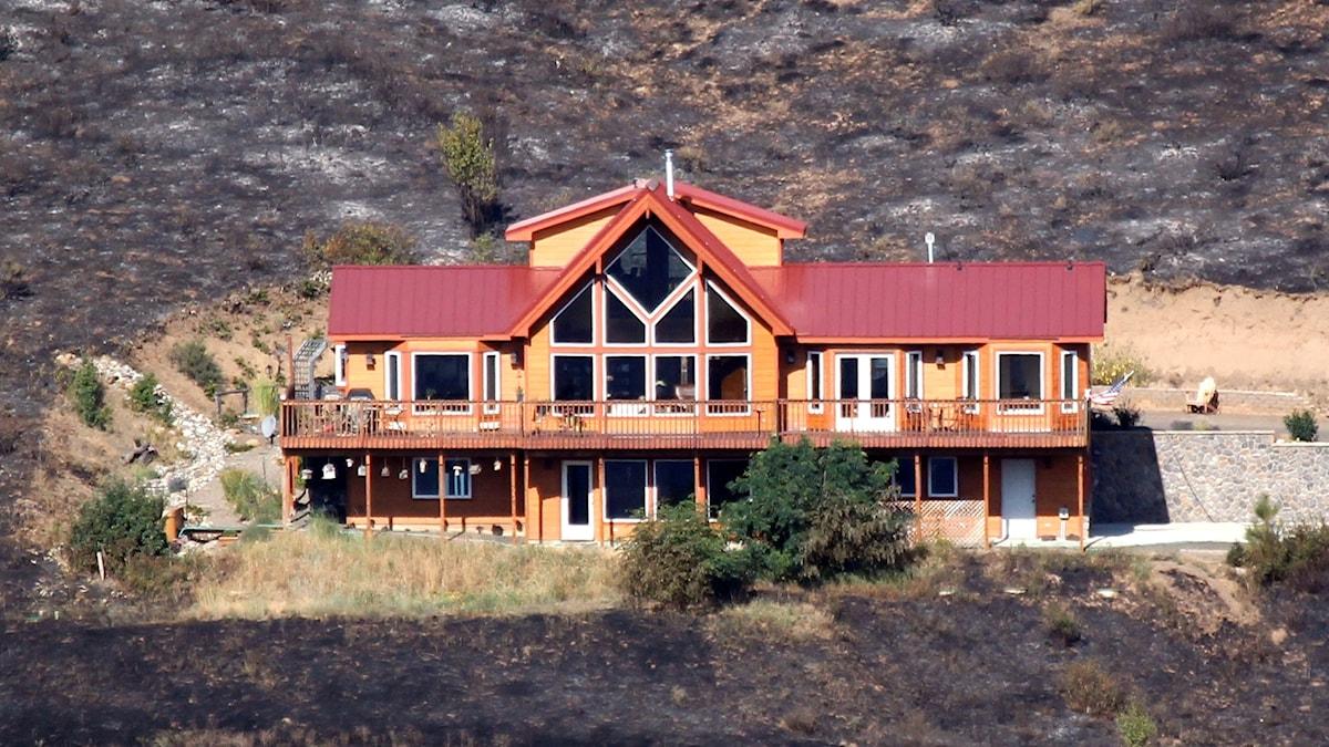 hus klarar sig undan skogsbrand