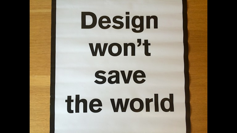 won´t save thwe world
