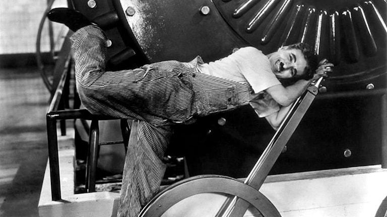 Charlie Chaplin i filmen Modern times