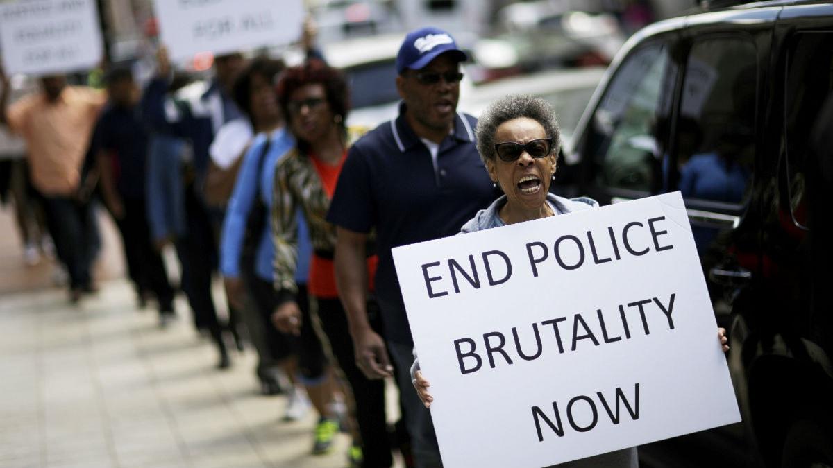 Protester i Baltimore