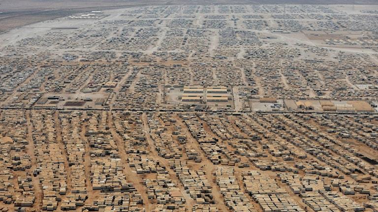 Flyktinglägret Zaatari i norra Jordanien med drygt 80 000 invånare.