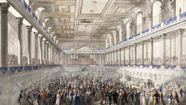 En av kongressens bättre fester i Hofburgs Redoutensaal.