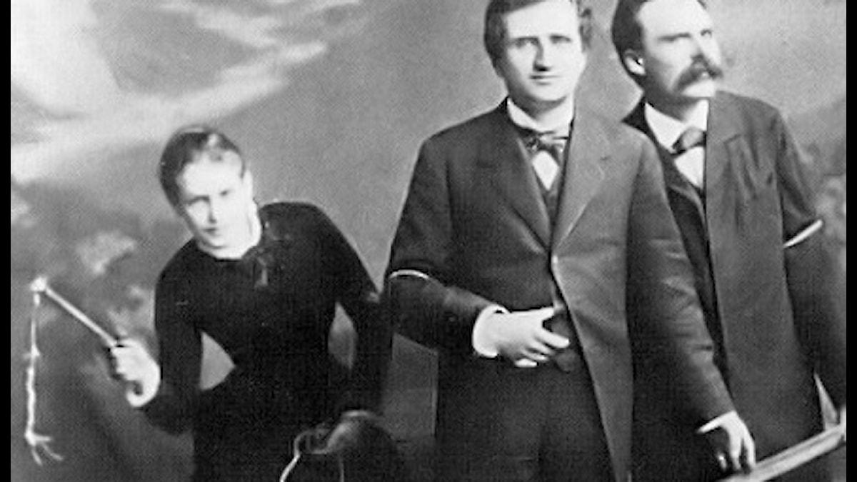 Lou Salomé, Paul Ree och Friedrich Nietzsche.