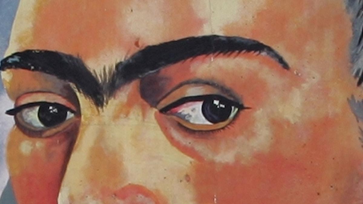 En väggmålning i Kansas city föreställande Frida Kahlo.