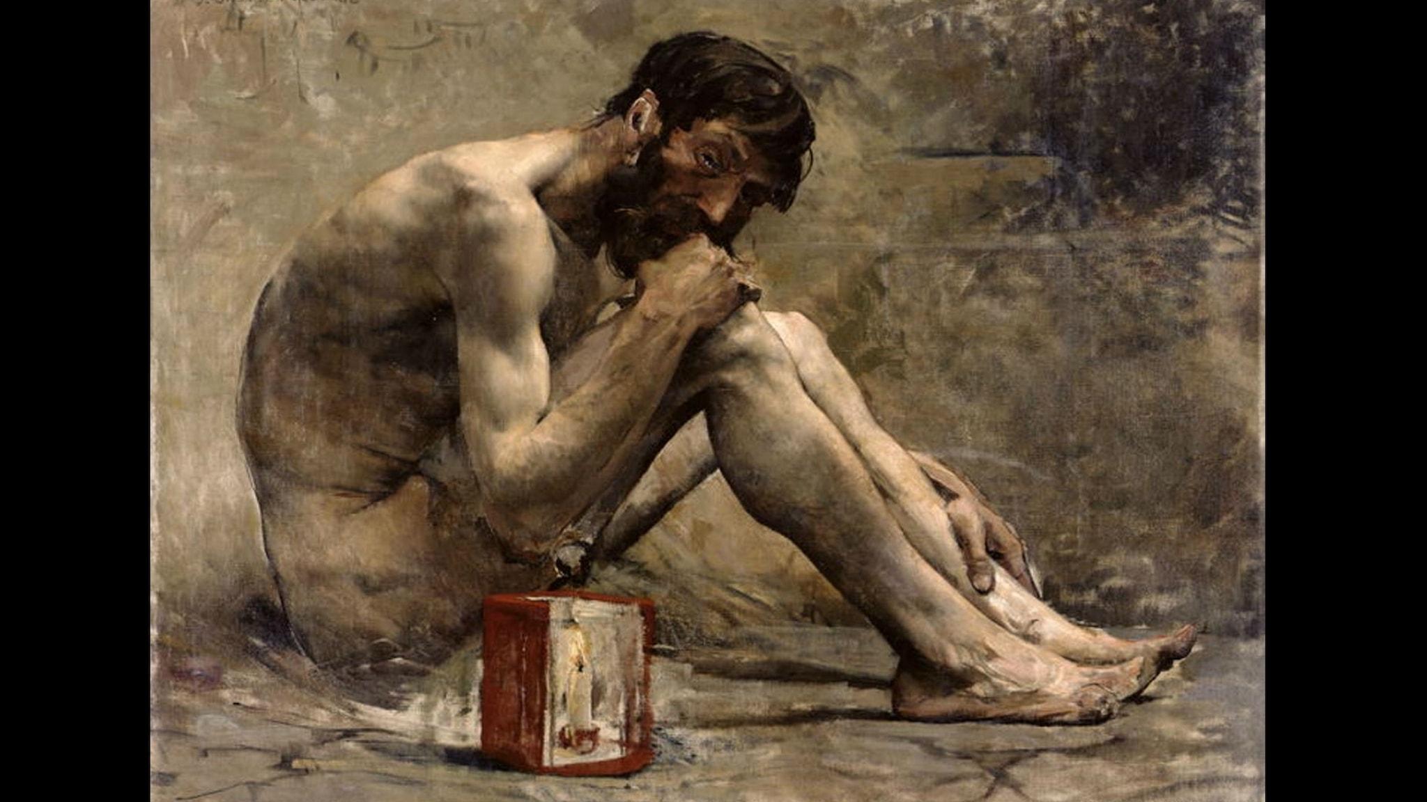 Diogenes med sin lykta.