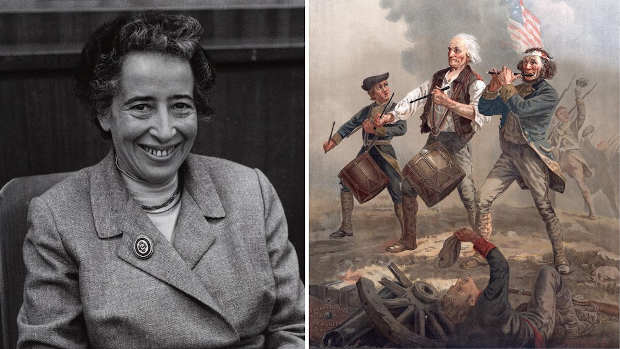 Hannah Arendt föredrog den amerikanska revolutionen.