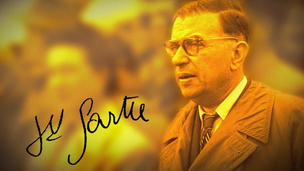 Jean-Paul Sartre föddes 1905 och dog 1980 i Paris. Han tilldelades men avböjde Nobelpriset i litteratur 1964.
