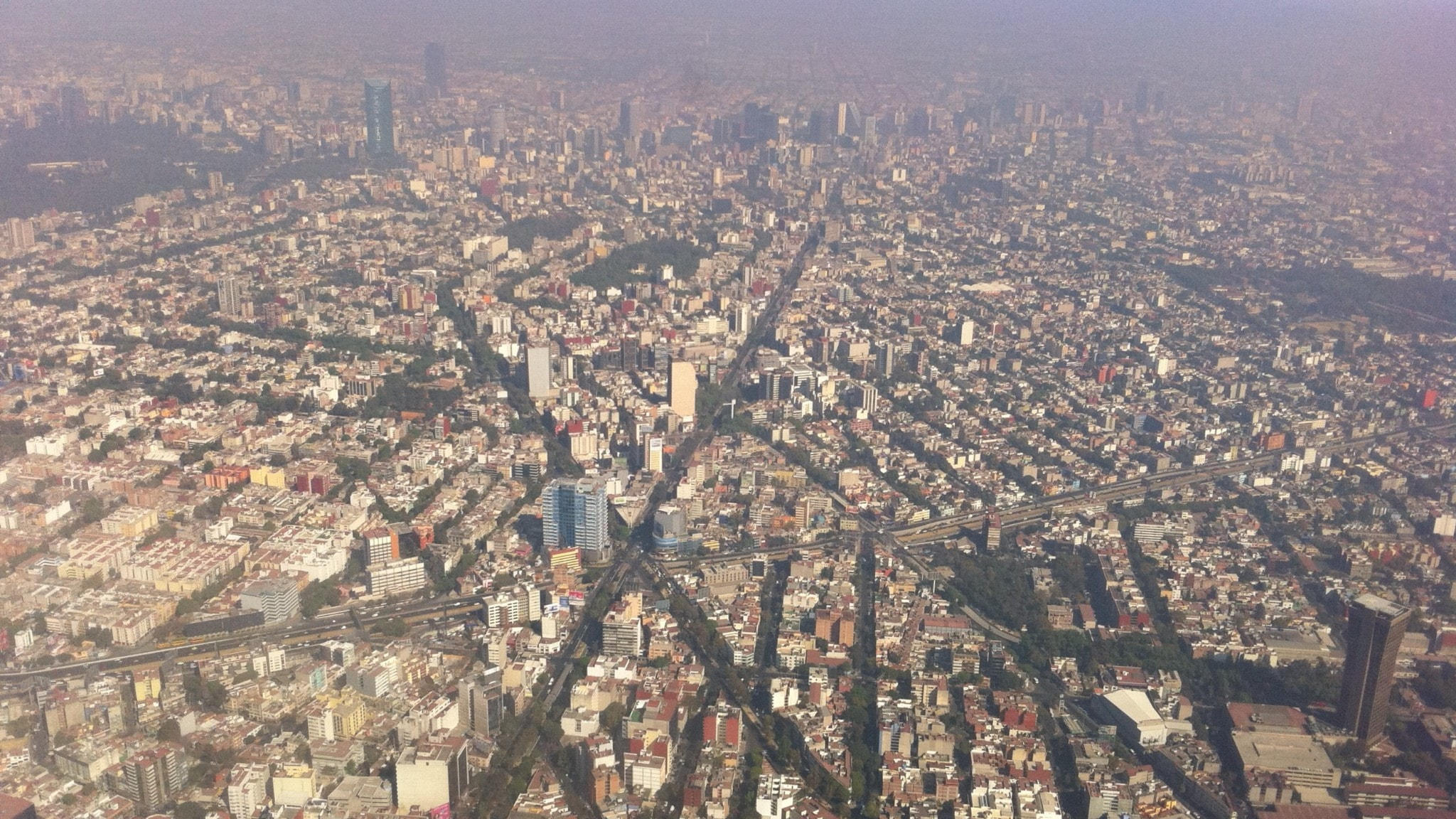 Mexico city i smog.