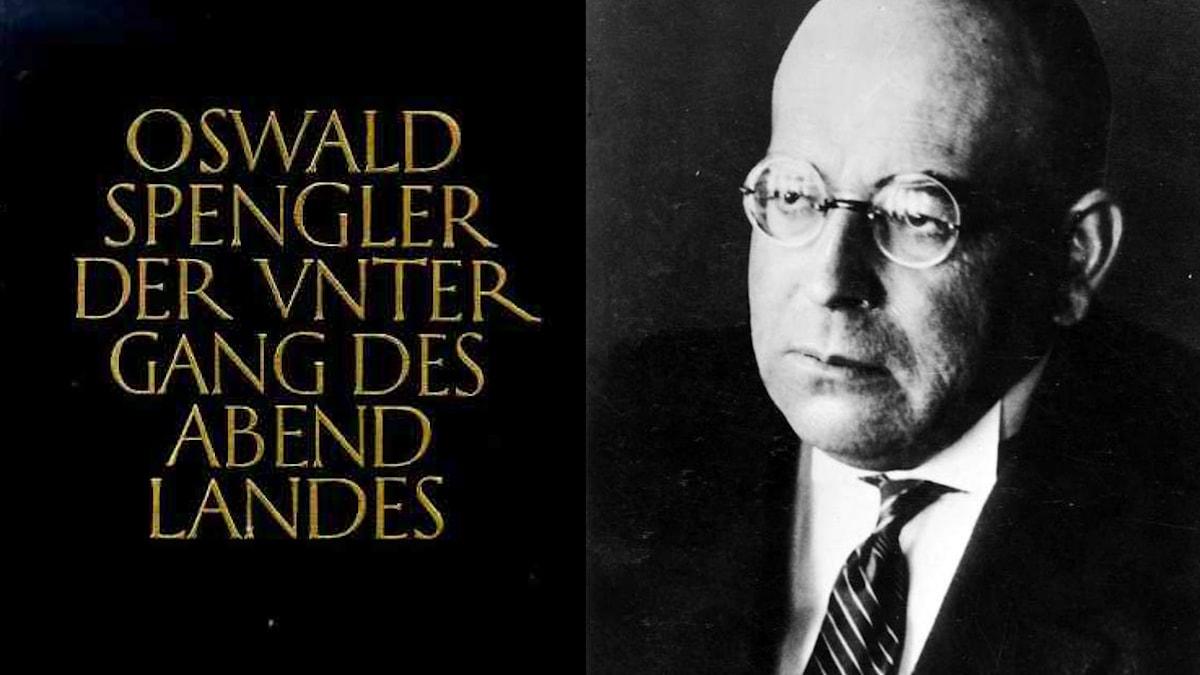 Oswald Spengler med sin berömda bok.
