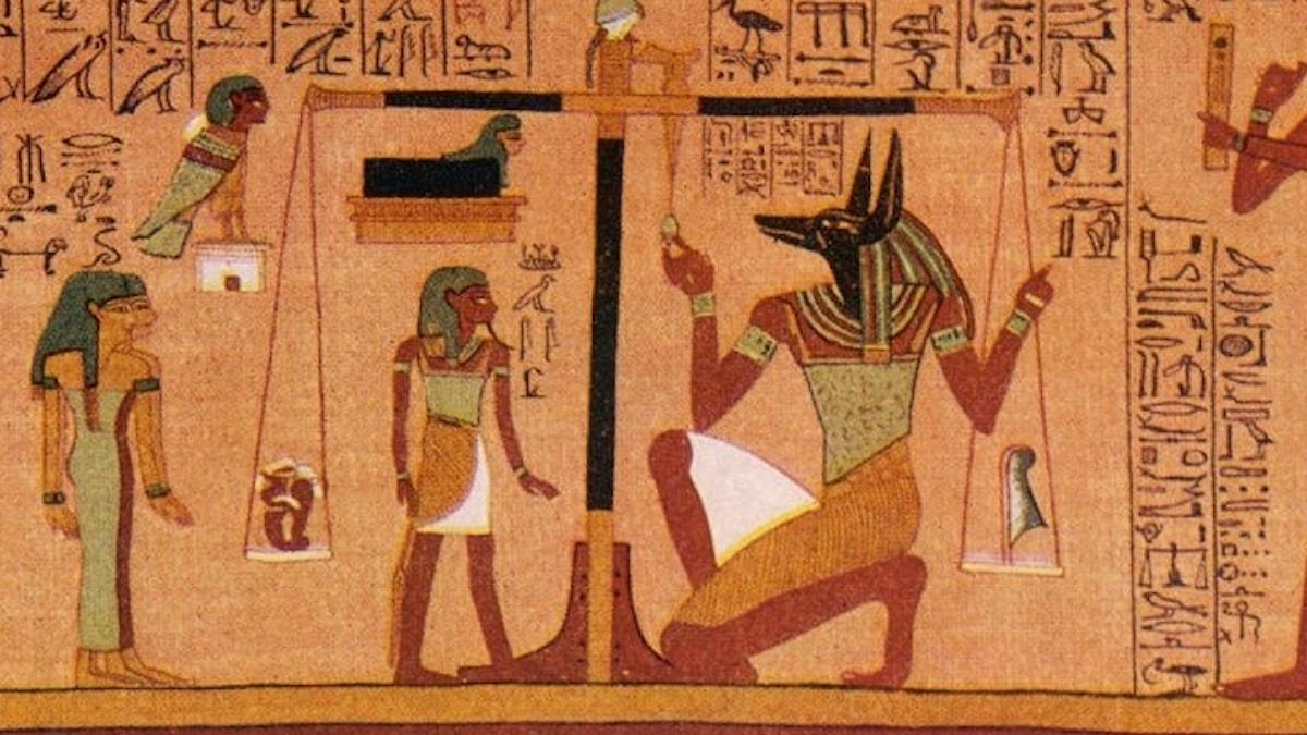 Vägledning till livet efter detta. Papyrus från 1200-talet före Kristus.