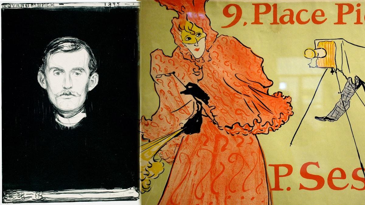 Edvard Munch och Henri de Toulouse-Lautrec var två konstnärer som använde litografitekniken.