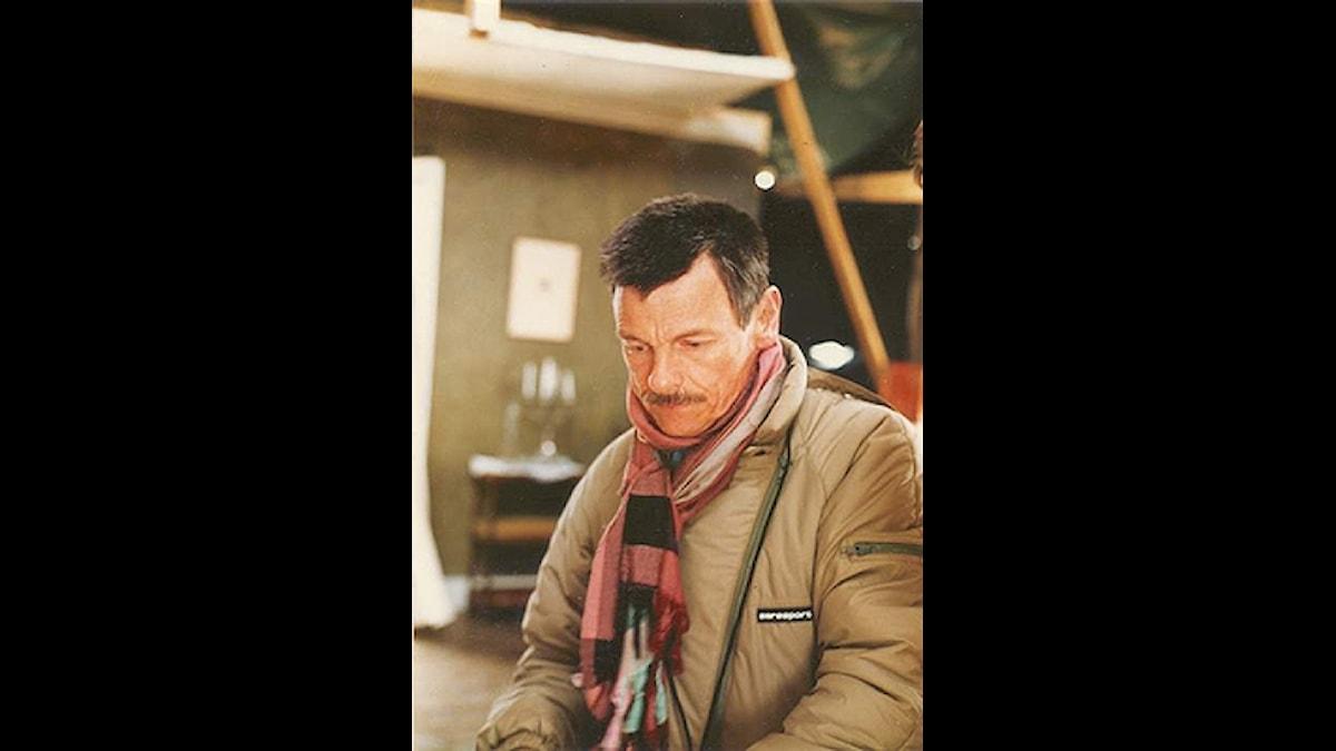 Andrej Tarkovskij under inspelningen av Offret.