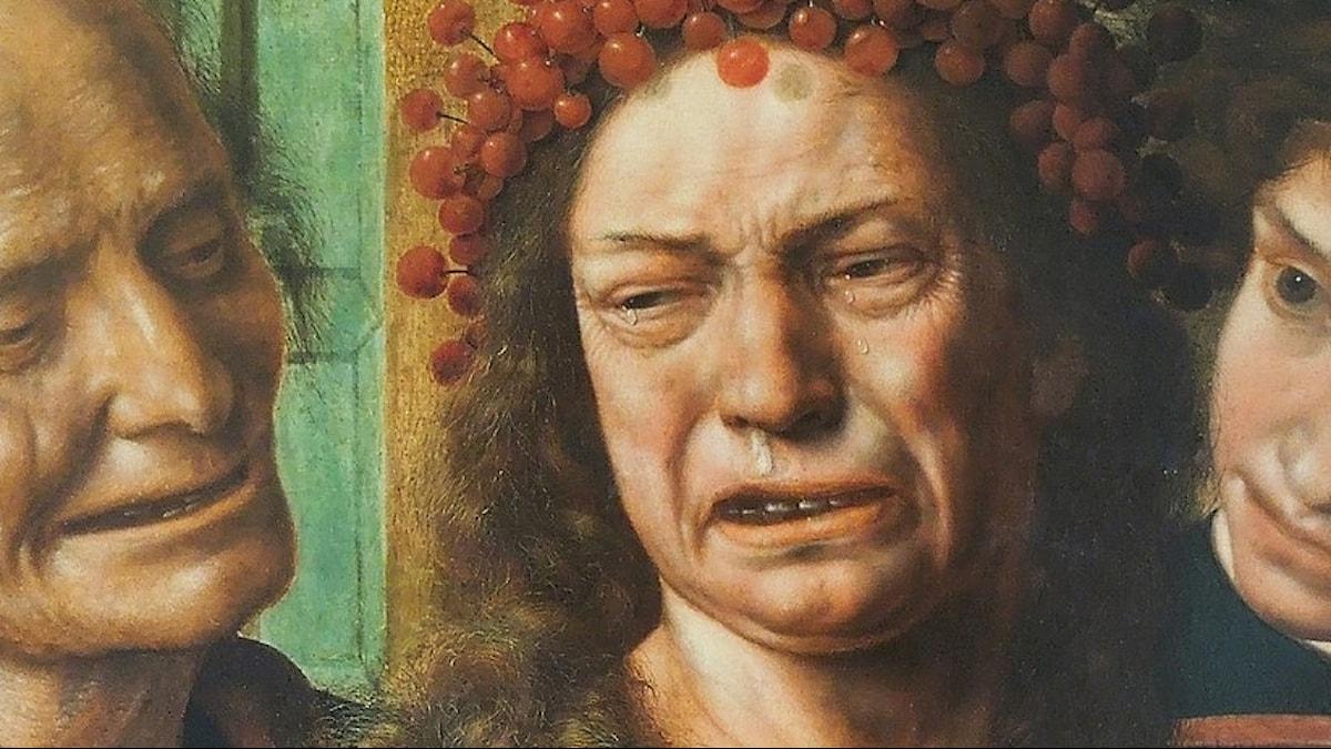 Jan Sanders van Hemessen Brud i tårar, från cirka 1540.