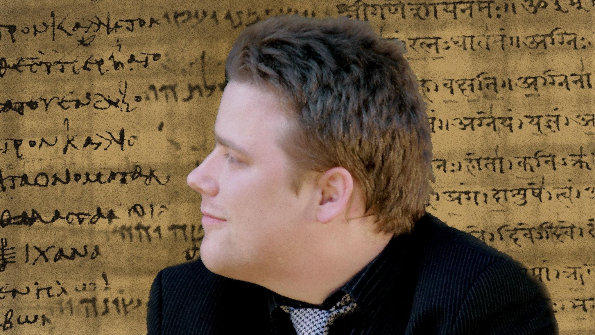 Ola Wikander har skrivit flera böcker om äldre tiders språk och trosföreställningar (bilden är ett montage).