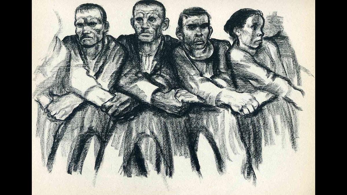 """""""Solidaritet"""", 1923. Käthe Kollwitz"""