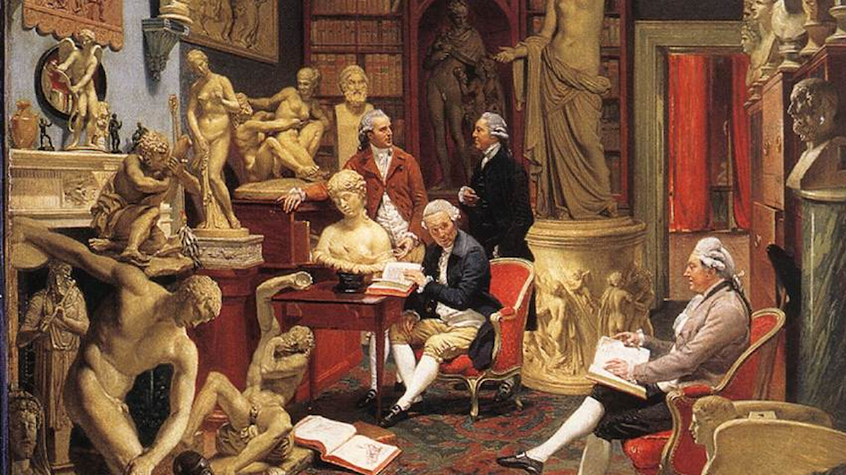 Johann Zoffany  (1733–1810):  Charles Townley in his Sculpture Gallery.