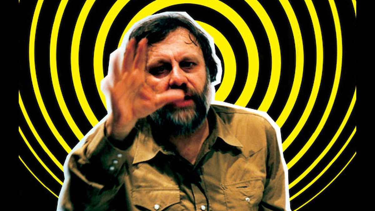 "Filosofen Slavoj Žižek har kallats ""The Elvis of Cultural Theory"" i Chronicle of Higher Education."