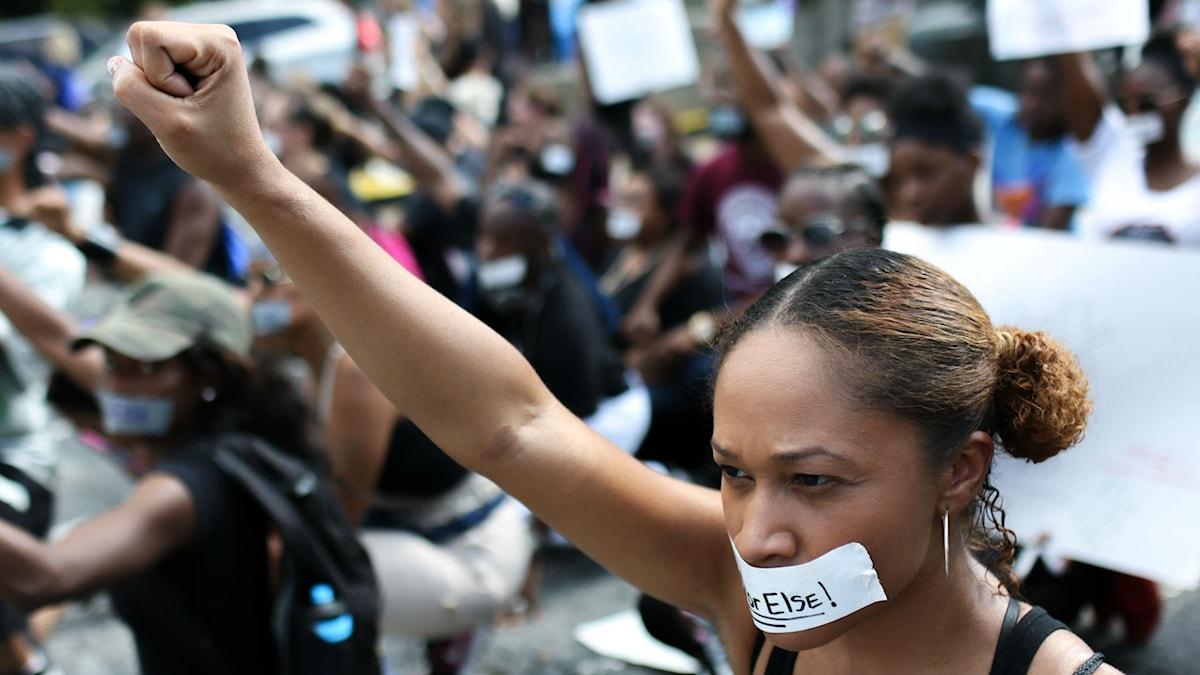 Black Lives Matter-protester i Atlanta 2016.