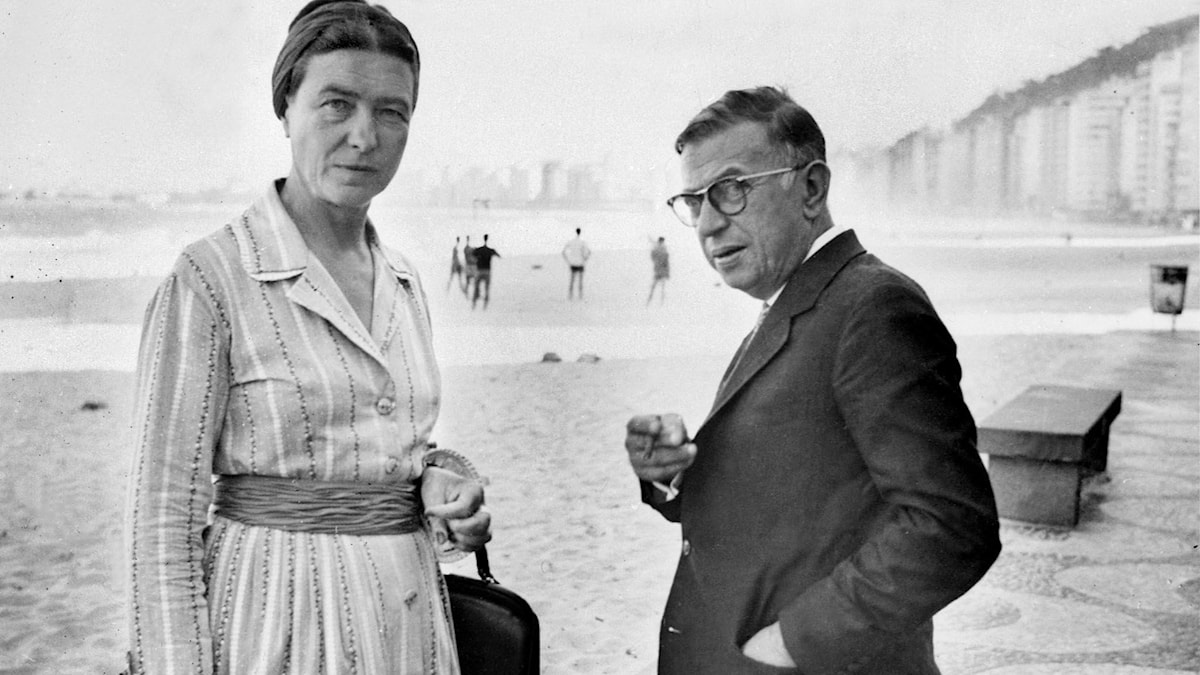 Simone de Beauvoir och Jean-Paul Sartre.