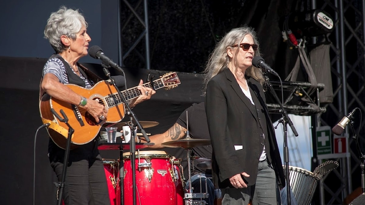"Joan Baez och Patti Smith på ""Music and arts"" i Stockholm i somras."