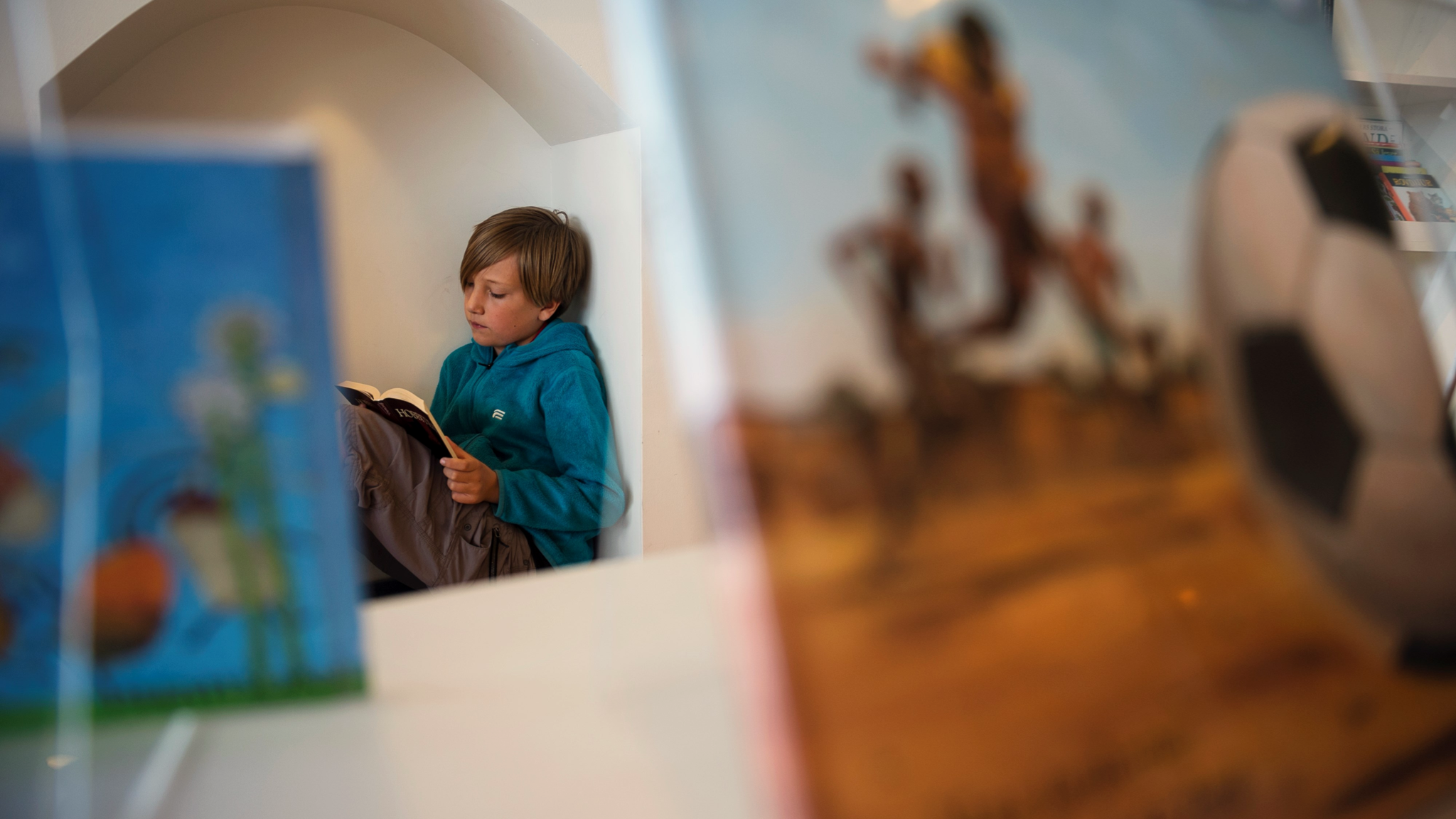 En ung läsare.