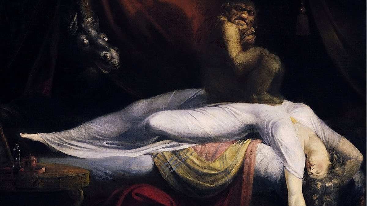 """Henry Fuselis målning """"Mardrömmen"""" från 1781."""
