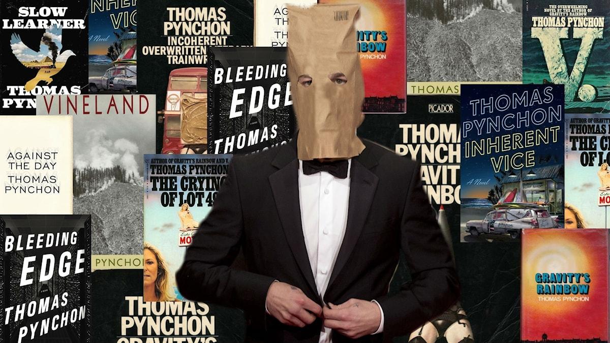 Romanerna är världsberömda, upphovsmannen hemlig. Bilden är manipulerad och ett montage.