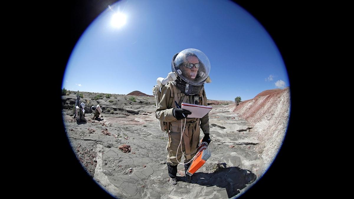 Mars Desert Research Station in Utah, USA, där man simulerar kommande resor till den mytomspunna planeten.
