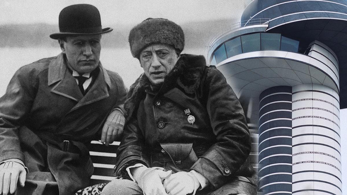 Mussolini, d'Annunzio och Arlanda flygledartorn.