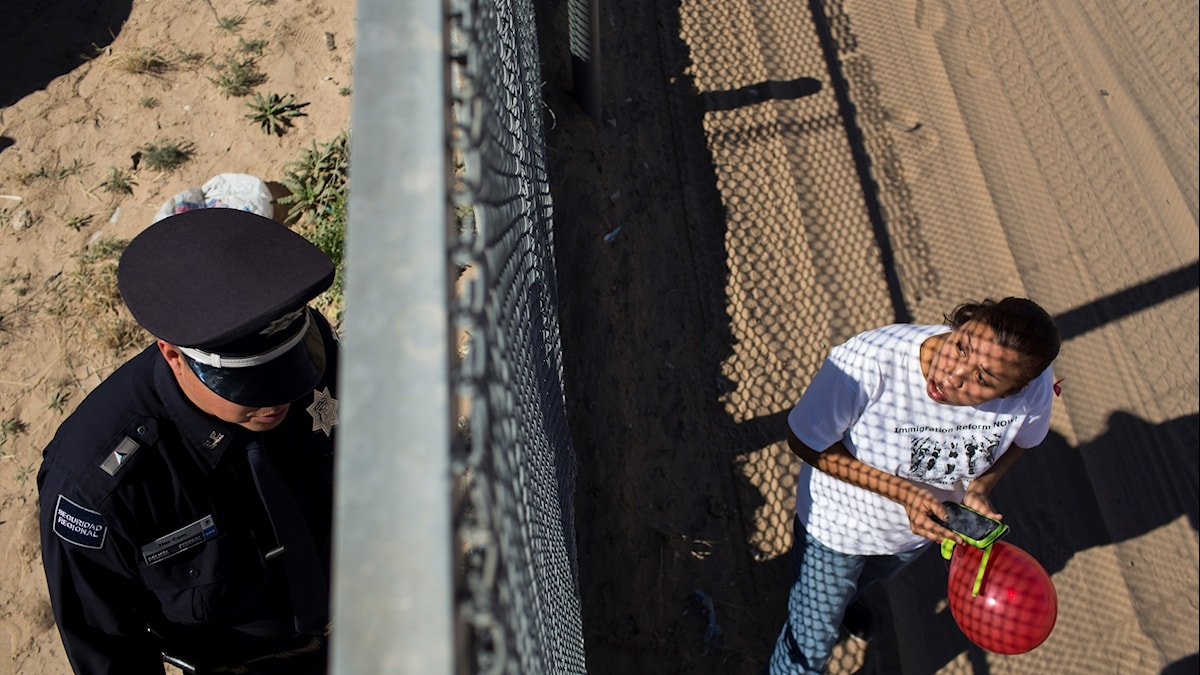 En gräns mellan Mexiko och New Mexiko.
