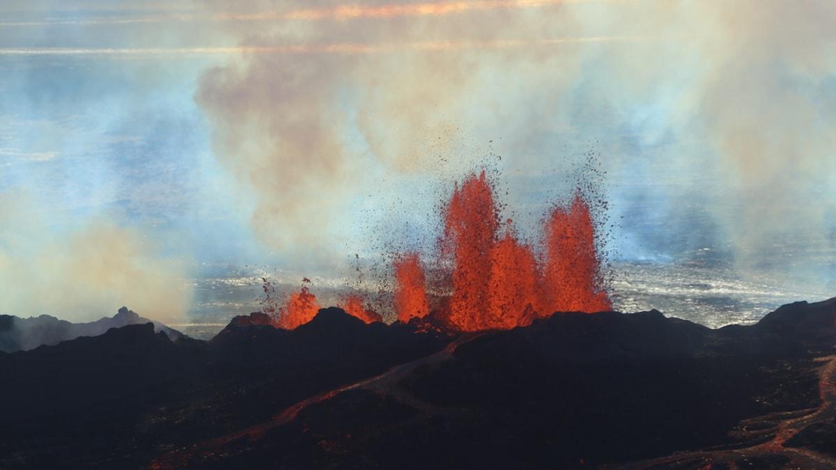 Lava på Island.
