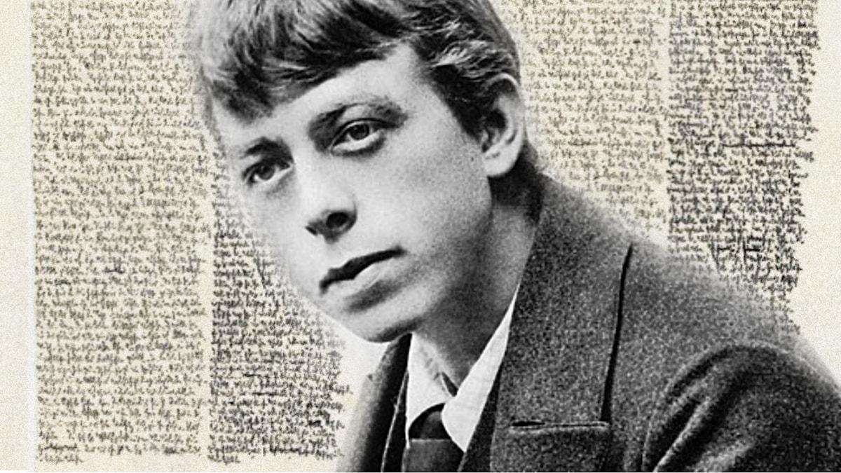 Robert Walser som ung.