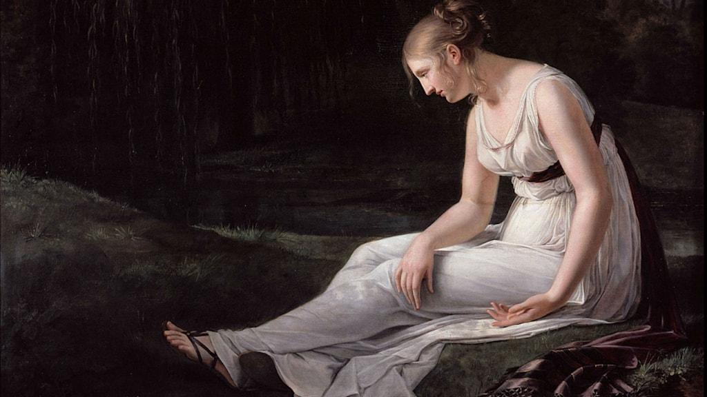 """""""Melankoli"""" av Constance Marie Charpentier  (1767–1849)."""