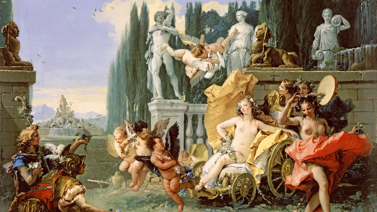 Tiepolo's Triumph of Flora (ca. 1743), a scene based on the Fasti, Book 4[1]