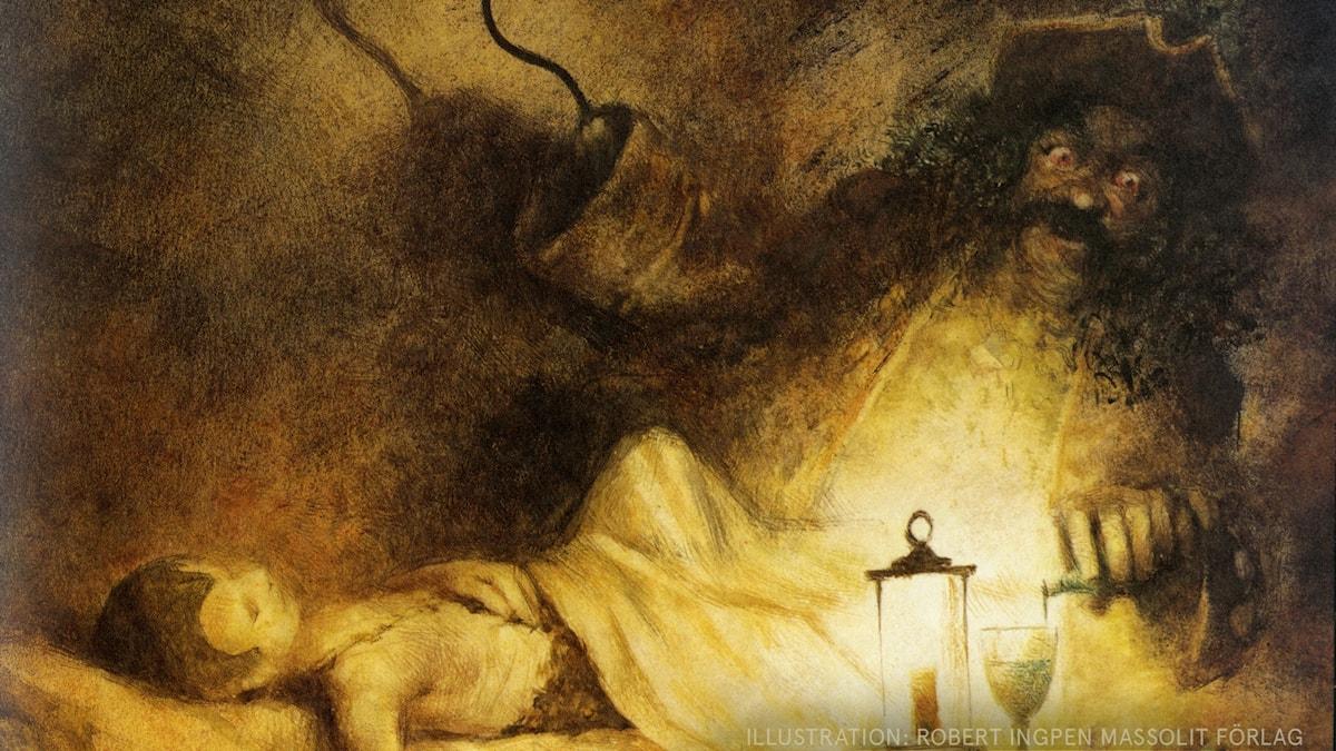 Peter Pan Del 15: Krok eller jag den här gången Illustration: Robert Ingpen Massolit förlag