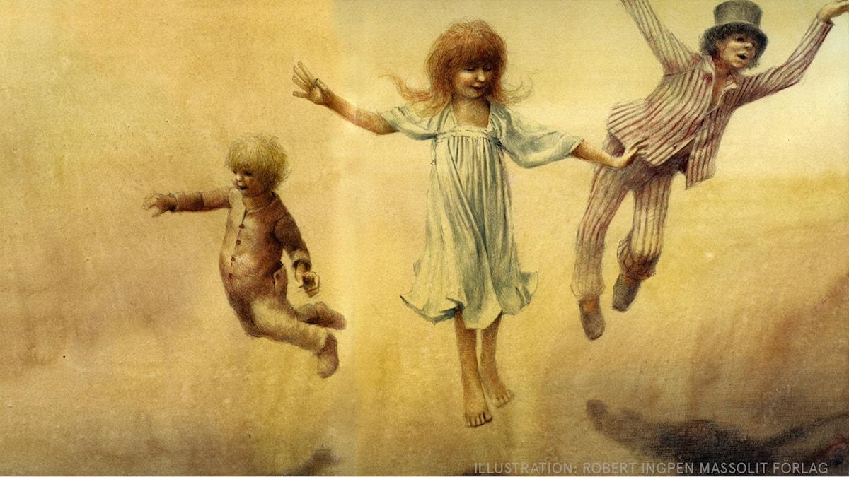 Peter Pan: Följ med, följ med! Illustration: Robert Ingpen Massolit förlag