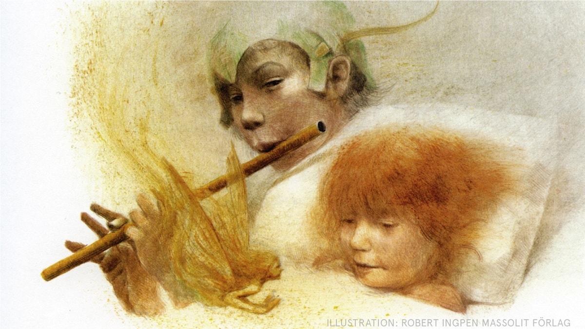 Peter Pan: Peter tar sig in Illustration: Robert Ingpen Massolit förlag
