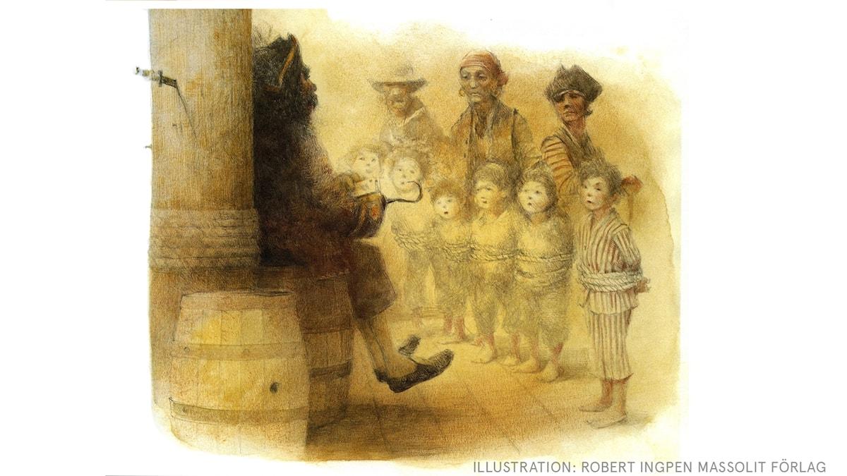 Peter Pan: Barnen rövas bort Illustration: Robert Ingpen Massolit förlag