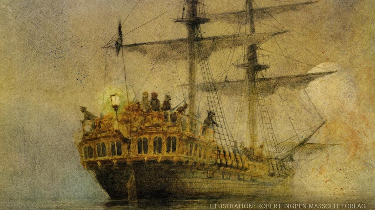 Peter Pan Del 14 av 18: Piratskeppet Illustration: Robert Ingpen Massolit förlag