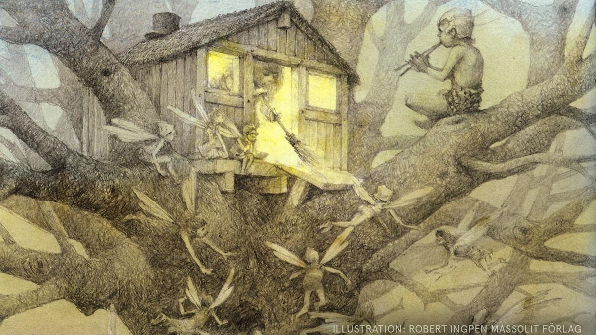 Peter Pan: Tror ni på älvor? Illustration: Robert Ingpen Massolit Förlag
