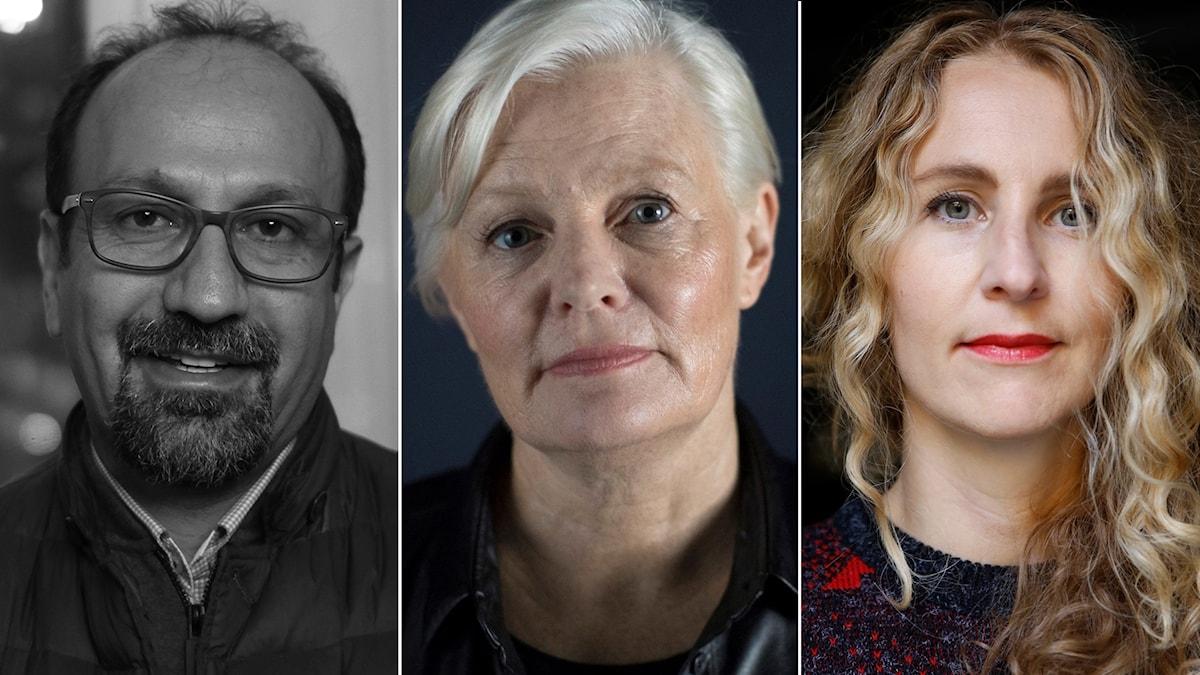 Regissörerna Asghar Farhadi, Mary Harron och Ingrid Rydberg.