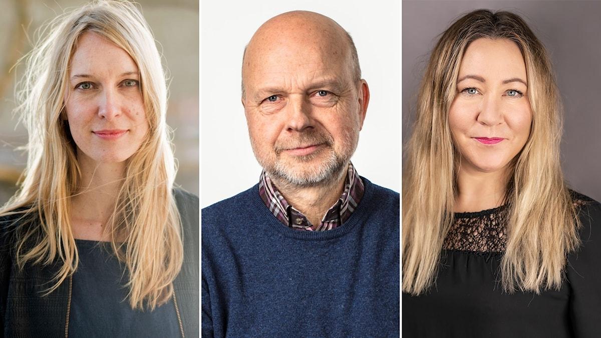 Lina Kalmteg, Gunnar Bolin och Hanna Jedvik