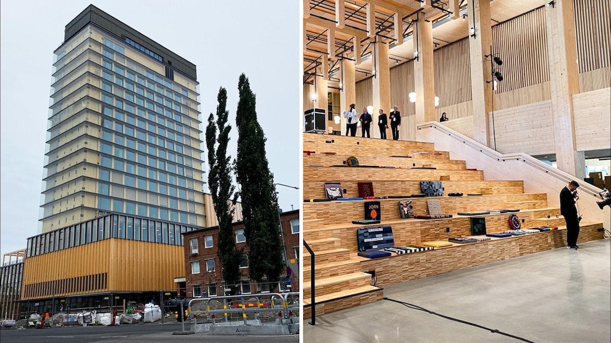 Kulturhuset Sara: exteriör och interiör.