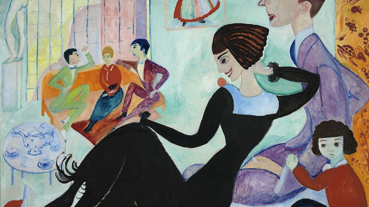 Sigrid Hjertén: Ateljéinteriör, 1916